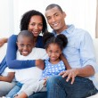 Portrait of a Smiling Afro-american family - Stock Photo