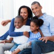 Stock Photo: Portrait of happy Afro-americfamily