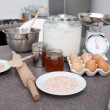 Cake ingredients - Stock fotografie