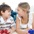 Royalty-Free Stock Photo: Close-up of children playing video games