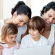 Close-up of a family shopping online — Stock Photo #10293697
