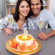 Enamoured couple celebrating — Stock Photo #10293783