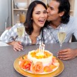Romantic couple celebrating — Stock Photo #10293785