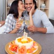 Loving couple celebrating — Stock Photo #10293791