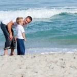 Attentive Father and his son having fun — Stock Photo #10294110