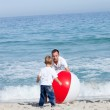 Cheerful Father and his son having fun — Stock Photo #10294116