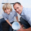 Father and his boy smiling at camera — Stock Photo #10294232