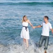 Intimate couple having fun at seaside — Stock Photo #10294807