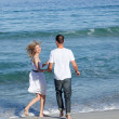 Beautiful lovers having fun at the seaside — Stock Photo #10294812