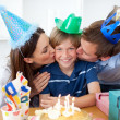 Royalty-Free Stock Photo: Close-up of parents celebrating their son&#039;s birthday