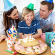 Cute little boy celebrating his birthday — Stock Photo