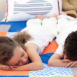 Stock Photo: Cute Siblings sleeping