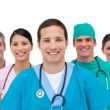 Smiling medical team — Stockfoto