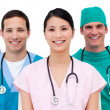 Multi-etnic medical team — Stock Photo #10295630