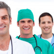 Portrait of a men's medical team — Stock Photo