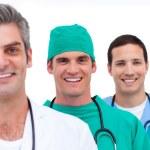 Portrait of a men's medical team — Stock Photo