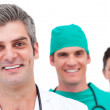 Portrait of a successful medical team — Stock Photo