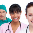 Presentation of a multi-ethnic medical team — Stock Photo