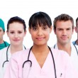 Portrait of a diverse medical team - Foto Stock