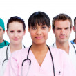 Portrait of a diverse medical team - Stockfoto