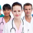 Portrait of a serious medical team — Stock Photo