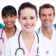 Foto Stock: Portrait of united medical team