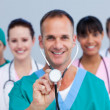 Portrait of an enthusiastic medical team — Stock Photo