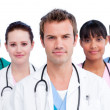 Portrait of a concentrated medical team — Stock Photo