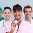 Portrait of a young medical team — Stock Photo #10295807