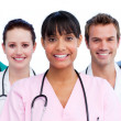 Portrait of a doctor and her medical team — Stock Photo #10295810