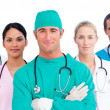Portrait of multi-ethnic medical team — Stock Photo #10295907