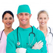 Stock Photo: Portrait of ambitious medical team