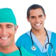 Portrait of positive male doctors — Stock Photo