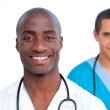 Portrait of handsome male doctors — Stock Photo #10295928
