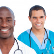 Portrait of charming male doctors — Stock Photo #10295929