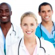 Portrait of enthusiastic medical team — Stock Photo