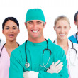 Portrait of successful medical team — Stock Photo #10295947
