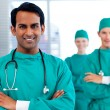 Stock Photo: Group of surgeons showing diversity