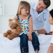 Portrait of a little girl during a check-up — Stock Photo