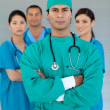 Portrait of a multi-ethnic medical team — Stok fotoğraf