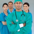 Stock Photo: Portrait of a multi-ethnic medical team
