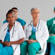 Team of doctors at a conference — Foto Stock