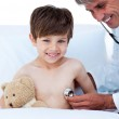 Little boy attending a medical check-up — Stock Photo