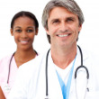 Senior doctor with his colleague — Stock Photo