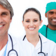 Self-assured medical team standing — Stock Photo #10296786
