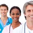 Confident medical team standing — Stock Photo