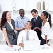 international businessteam working and having fun — Stock Photo