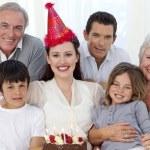 Grandparents, parents and children celebrating a birthday — Stock Photo #10297967