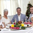 Stock Photo: Family celebrating Christmas dinner