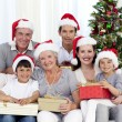 Happy family at Christmas time - Foto de Stock